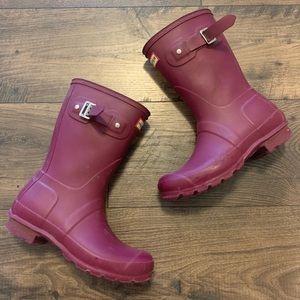 Hunter Original Rain Boots Autumn Stone Red Size 6